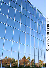 Modern Office Building Glass Wall