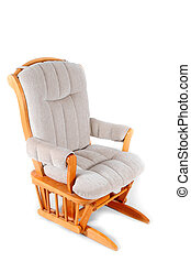 Oak Rocking Chair - Padded Rocking Chair