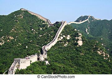 parete, grande, Cina