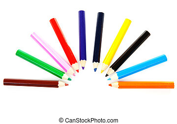 colorful pencils in a circle - Colorful pencils in an circle...
