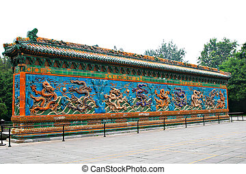 Qing Dynasty 9 Dragon Wall - Famous Qing Dynasty 9 Dragon...