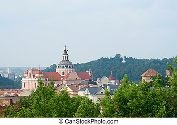St. Casimir church and Hill of Three Crosses in Vilnius,...