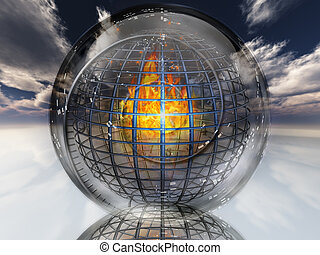 Fire contained in sphere