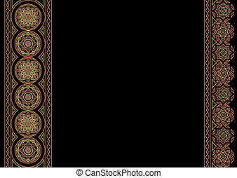 celtic background - celtic black background with copy space