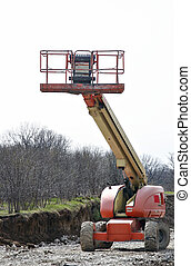 Construction bucket platform - High rise cherry picker on...