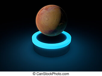 Mars - render of the planet mars