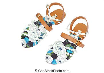 sandals  - female sandals on a white background
