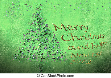 merry christmas and happy new year 2012 - background and...