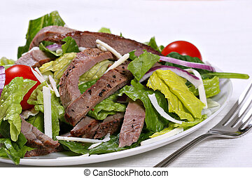 beef sirloin salad - beef sirloin strips with black pepper...