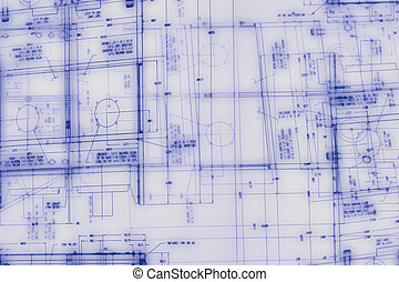 Abstract engineering drawing background - Abstract...