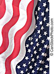 norteamericano, bandera, tela
