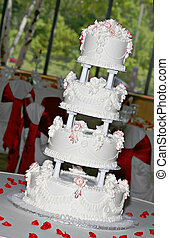 Wedding Cake On Banquet Room
