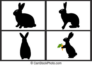 Easter rabbit collage isolated on white