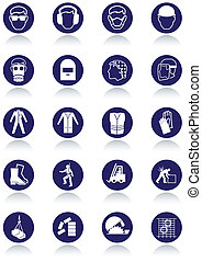 International communication signs - Illustration set of...