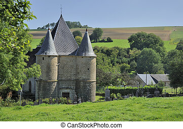 st etienne fortified church sernion - fortified church in...