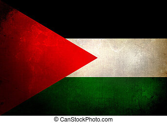 Grunge Palestine Flag - Palestine flag on old and vintage...