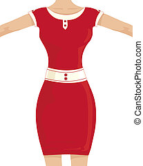 hour glass figure - an illustration of a woman in a red...