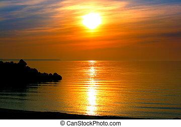 sea evening landscape