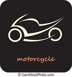 Motorcycle - vector icon - Sport Motorcycle - vector icon...