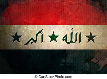 Grunge Iraq Flag