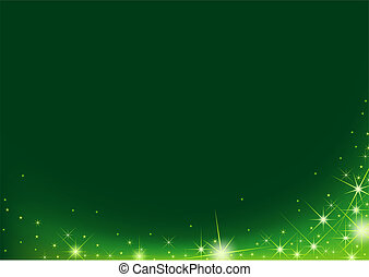 Starry Background - Green Background and Stars as...