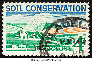 Postage stamp USA 1959 Modern Farm - UNITED STATES OF...