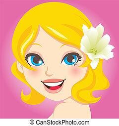 Pretty Blonde Portrait