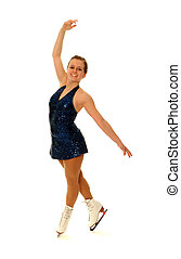 Competitive Figure Skater Smiling as she Poses - A smiling...