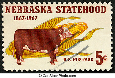 United States of America - circa 1967: a stamp printed in...