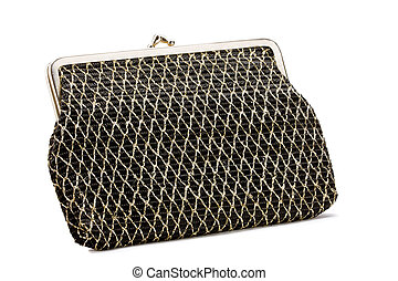Vintage clutch bag with diamond stitch pattern circa 1970s