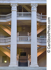Columns and Stairs - Neoclassical architecture at an...