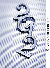 2012 - The New year 2012 in metallic letters.