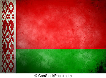 Belarus Grunge Flag - Belarus flag on old and vintage grunge...