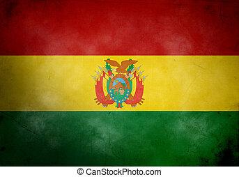 Bolivia Grunge Flag