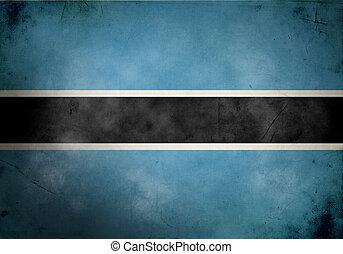 Botswana Grunge Flag