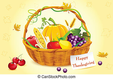 Basket Full of Thanksgiving Vegetable