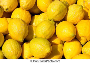lemon fruits in the marketplace