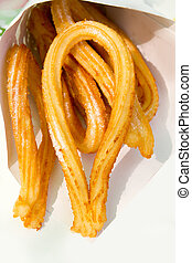 churros fried crullers spanish flour fritters