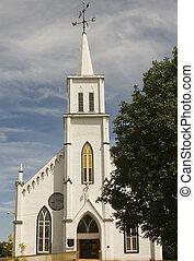 White wooden Church