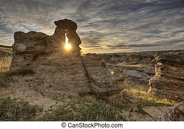 Hoodoo Badlands Alberta Canada Writing on Stone Park