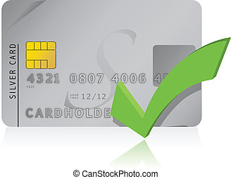 approve Credit Card illustration