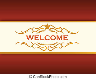 welcome illustration background