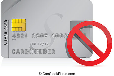 declined Credit Card illustration