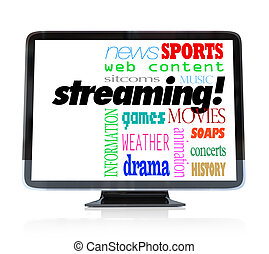 Streaming Content on HDTV Television Watch Programs - A high...