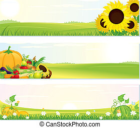 Fresh Nature Banners - Beauty Thanksgiving Nature banners...