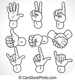 Contour Hands 2 - Contour hands collection, accuracy...