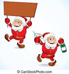 Claus, caricatura,  santa