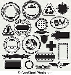 Stamps Templates - Blank Stamps templates for your design,...