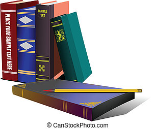 Library shelf book. Vector