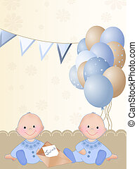 Newborn twin boys - Background